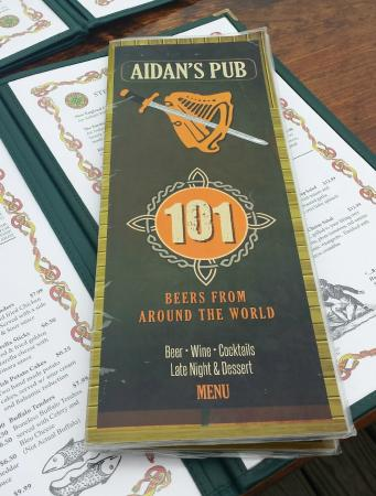 Aidan's Pub: Excellent Selection
