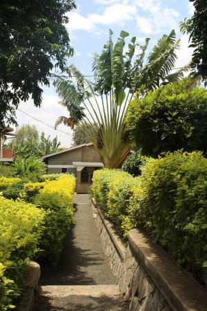 Tumaini Cottage: Vor den Zimmern im EG