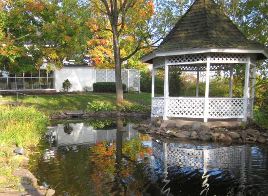 Inn At Turkey Hill >> Sunroom In Background Gazebo And Pond Picture Of The Inn At