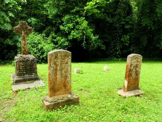 Natchez, MS: Cemetery on the Longwood grounds.