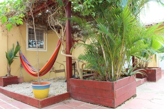 BonaireFUN Appartments: patio around the corner of the bar/restaurant