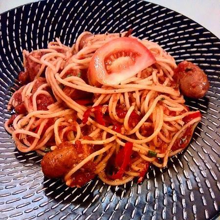 My Restaurant : Arrabiata with meatballs...
