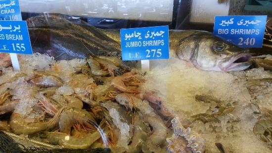 Fish Market: Opções de peixes e camarões