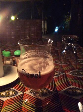 Belvedere Restaurant : A leffe in a glas of Duvel..... Well... We are not to fussy.