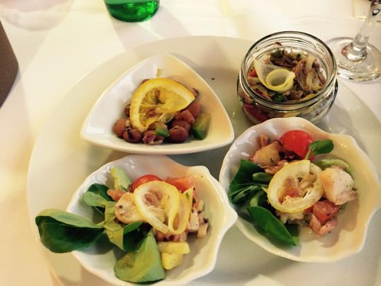 Grand Hotel Adriatic: Antipasti ristorante primo piano