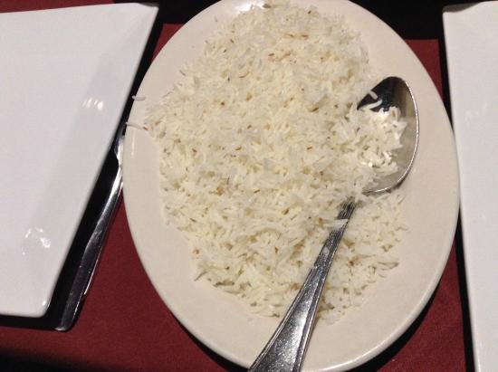 Flavors of India: Rice - generous quantity