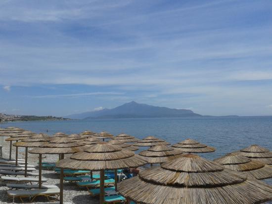 Hydrele Beach Hotel & Village: vue sur la mer Egée et la Turquie