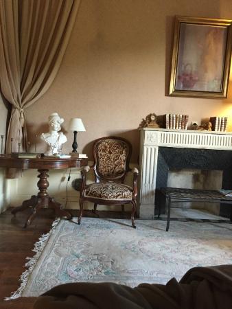 Château de Jallanges in Loire Valley (Between TOURS and Amboise): Vue de notre chambre