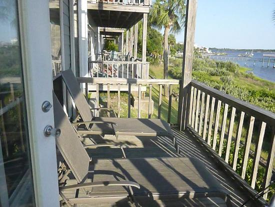 Seahorse Landing: Unit 101 - balcony view to the left