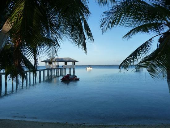 Tuamotu Archipelago, French Polynesia: Vue depuis le bungalow