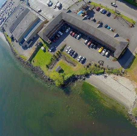 Comfort Inn Port Orchard: Aerial view of the Comfort Inn On the Bay