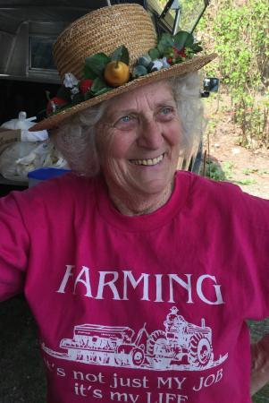 Saratoga Springs Food Tours : Anna Mae, fourth generation farmer at the Saratoga Farmers Market.
