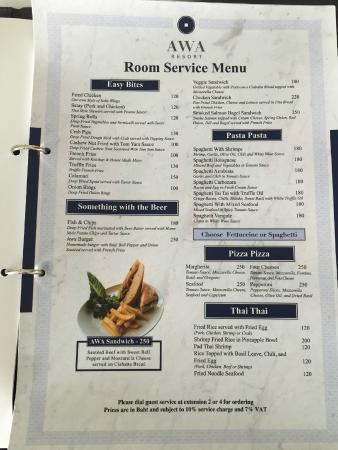 Menu del comedor - Picture of AWA Resort, Ko Chang - TripAdvisor