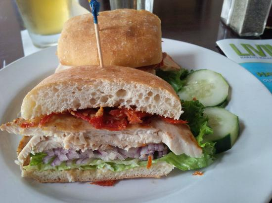Colleen's at the Cannery: The 4 S sandwich - without Swiss.