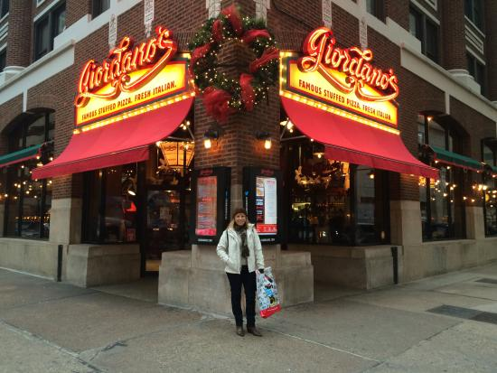 Well, I've been also living in Hyde Park for more than 20 years and the Giordano's store is the number one place to be if you really want to taste the best deep dish pizza. Period! Yes, some times they were late, Yes, out of the orders I've placed in this store they messed up a couple/5().