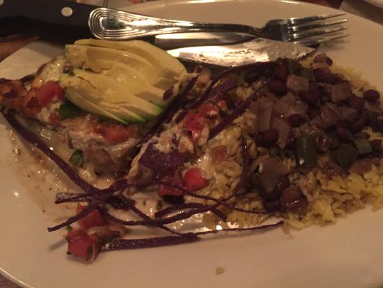 Sam Snead's Oak Grill and Tavern : Aztec Chicken- with black beans & rice