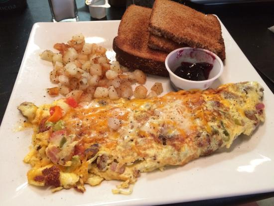 A Perfect Day Cafe: Saturday breakfast special.  YUM!!!!