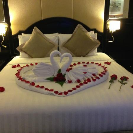 ステラ ハーバー リゾート (ザ パシフィック ステラ & ザ マゼラン ステラ), おもてなしを感じるベッドメーキング