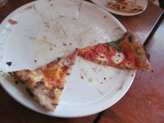 Boot and Shoe Service: last pieces of marinara and margherita pizza