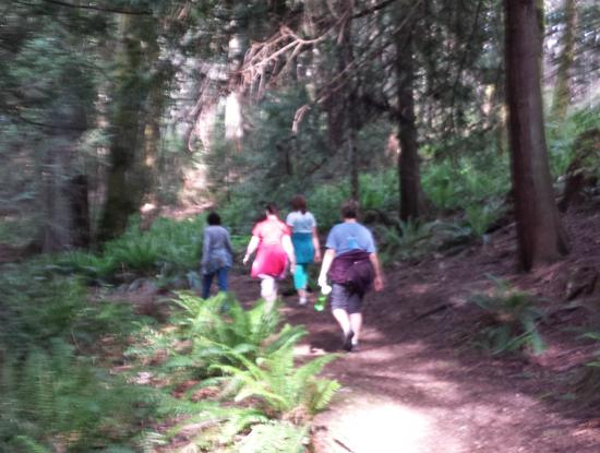 Nanaimo, Canada: Hiking in the forest on a sunny spring day!