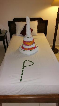 Towel art Birthday Cake Picture of Panorama Naama Heights Sharm