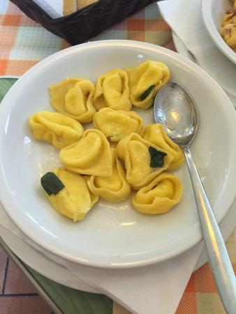 Osteria La Civichella: tortelloni di zucca