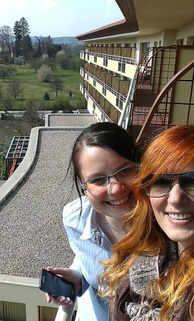 Lazne Belohrad, République tchèque : výhled z balkonu