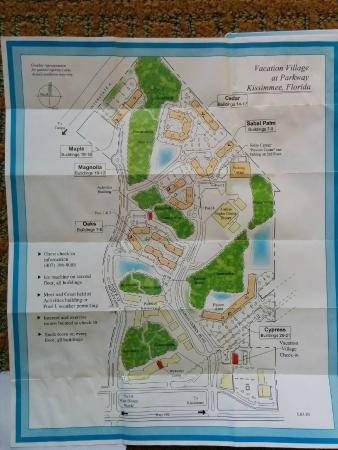 Here's a map of the resort and building layout - Picture ...