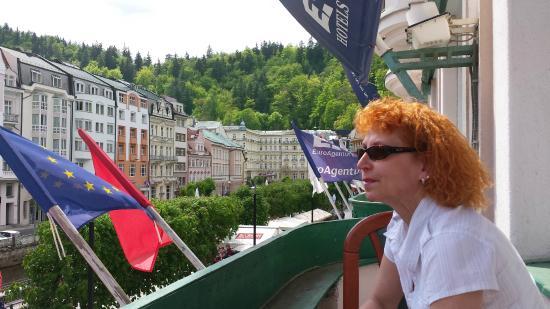 EA Hotel Jessenius: z balkonu pokoje