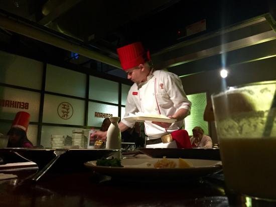 Benihana : Red-Hat Chef!