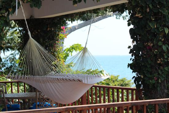 Your personal veranda and hammock. Good afternoon from Chabil Mar.
