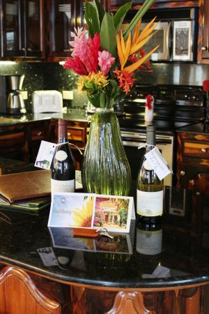 Chabil Mar: A vase of fresh tropical flowers, personal greeting and Belize chocolates greet you upon arrival