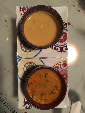 Turkuaz Grill: Wonderful selection of soups!