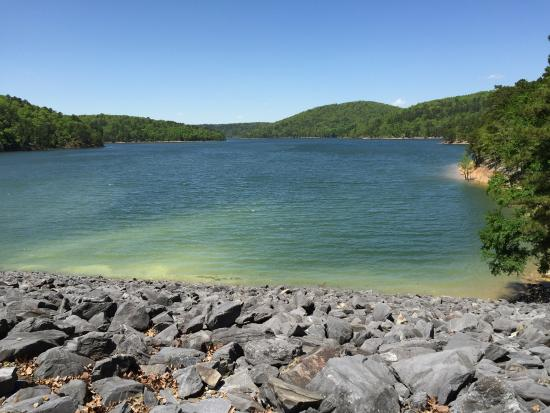 Royal, AR: Part of the lake at top of the dam