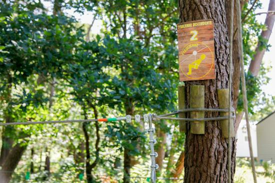Parcours tyroliennes au camping le moustoir