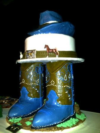 "Olympic Bakery & Deli: This is a a ""boots"" wedding cake made by Neil Freitas the owner and lead baker of Olympic Bakery"