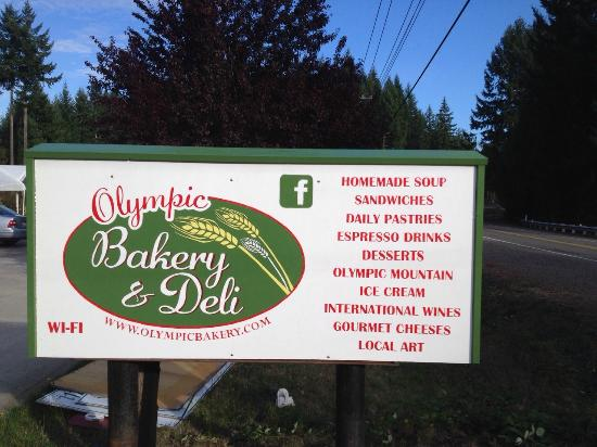 Olympic Bakery & Deli: Our new sign 2015