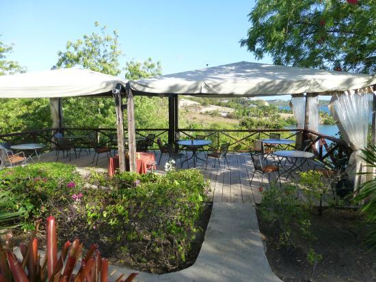Harmony Hall Antigua : Dining area from Bar