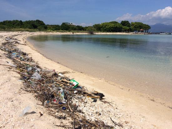 Pemuteran, Indonesien: Rubbish on the island