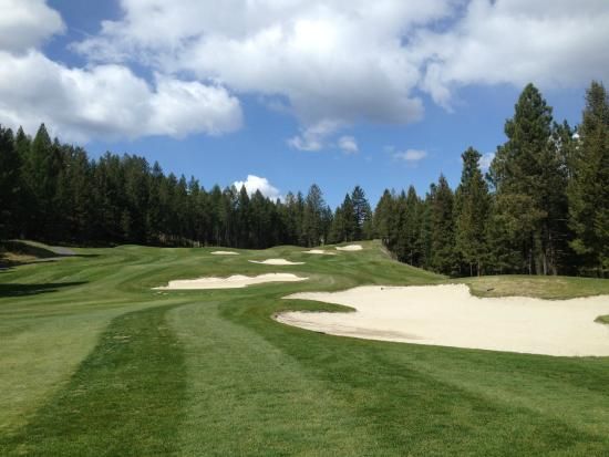 St. Eugene Golf Course: 12th hole is gorgeous and fun to play