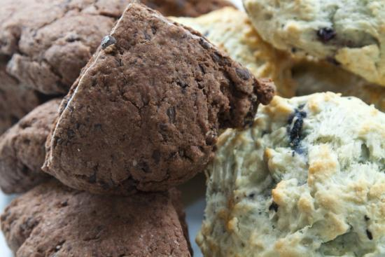 Scranton Seahorse Inn: A sample of our favorites - triple chocolate and blueberry scones