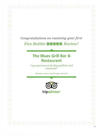 The Malvern Guest House & Blues Grill: Award