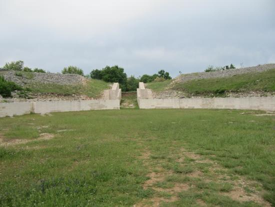 Burnum Roman Military Camp: Inside the amphitheatre