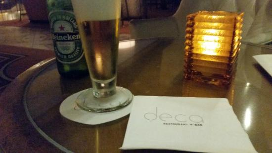 Deca Restaurant and Bar: A refreshing beverage