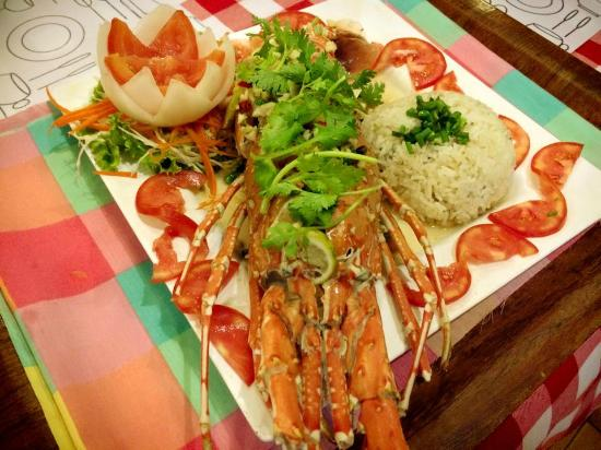 EuroThai Restaurant: Steamed Lobster with lemon and chilies