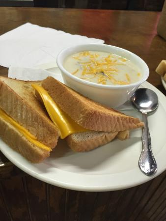 Johnny T S Restaurant Grilled Cheese And Potato Soup