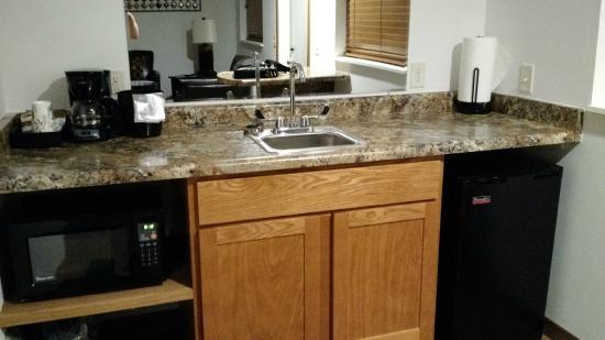 Spring Green Motel: Microwave, mini fridge and sink