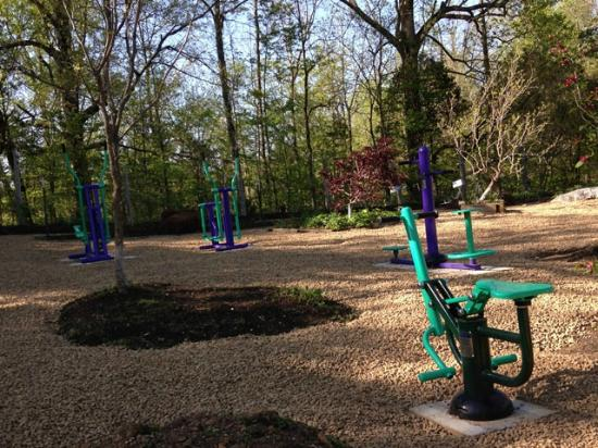 Pioneer Cabins & Guest Farm: Outdoor Fitness Area