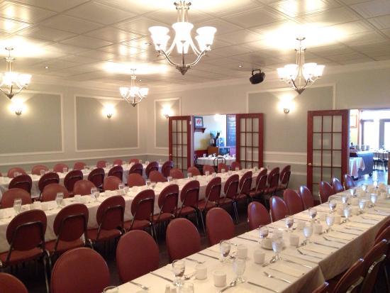 Auberge La Dolce Vita: Salle de réception. Sur la photo, set-up de 82 places.