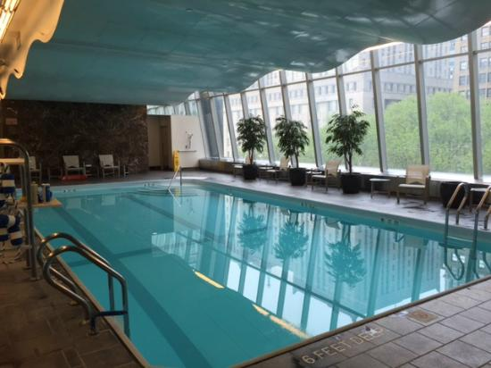 Millennium Hilton New York Downtown Pool Area Over Looking Fulton Street And Church